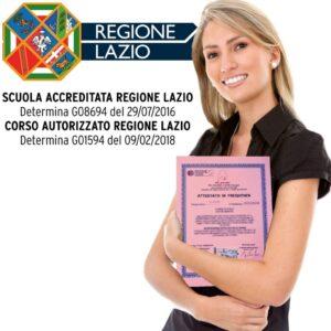 CORSI ONICOTECNICO REGIONE LAZIO